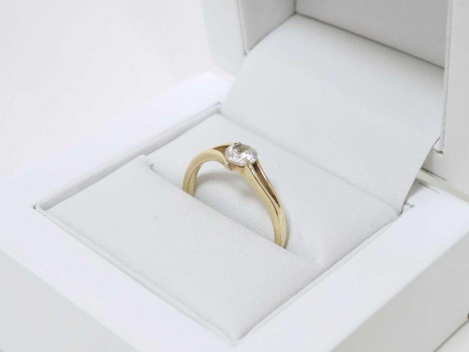 Piękny złoty pierścionek z oczkiem 585 rozm 16 Grudziądz - image 1