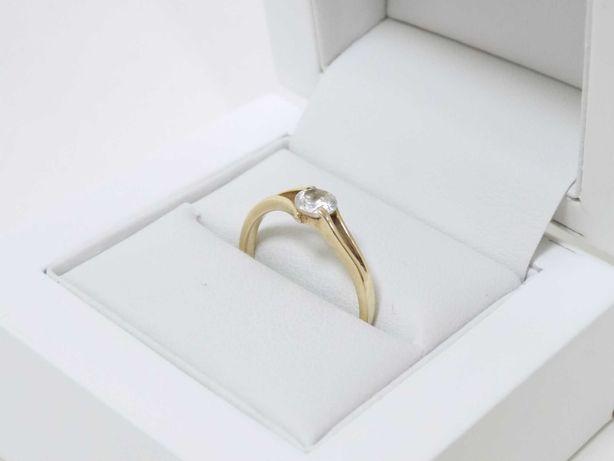 Piękny złoty pierścionek z oczkiem 585 rozm 16