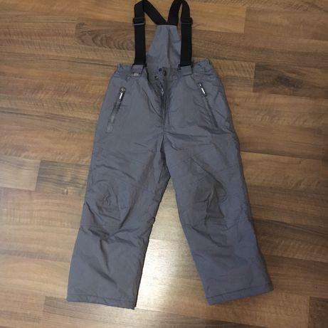 Зимние штаны на подтяжках на 6 лет