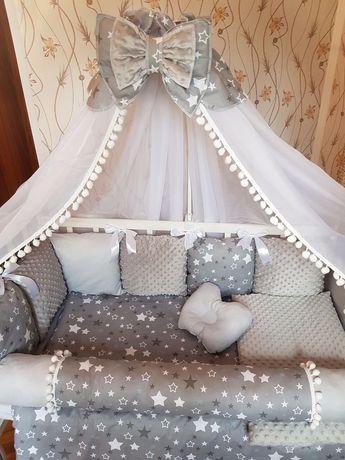 Бортики для новорожденного,защита в кроватку для маладенца,балдахин