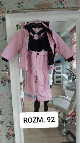 Zestaw zimowy narciarski spodnie i kurtka dla dziewczynki H&M