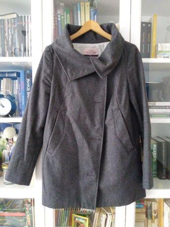 szary płaszcz BERSHKA M 38 wiosenny jesienny