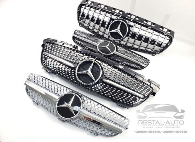 Решетка Mercedes A,C,E,S,Cla,Cls,Clk,Slk,SL,Gla,Gle,Ml,Glk,GLC,Gls,G,V