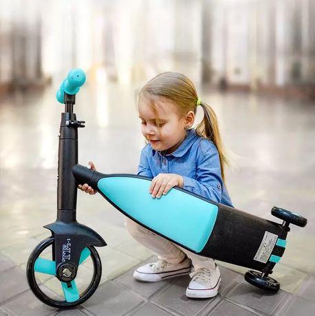 Самокат-велобег Scooter 3в1, с педалями Без коробки