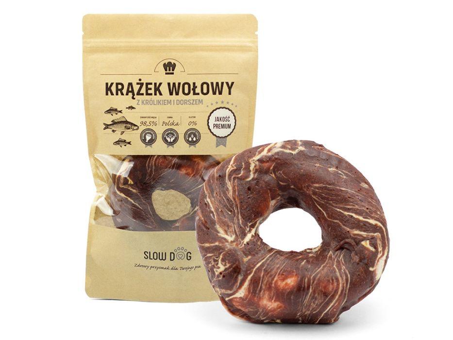 SLOW DOG - gryzak dla psa - Krążek z królikiem i dorszem - 98,5% mięsa Kraków - image 1
