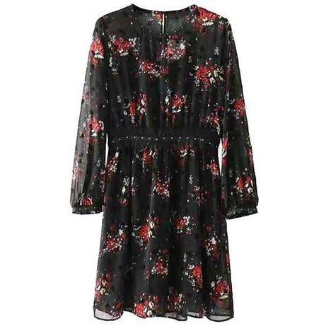 Шифоновое короткое платье в цветы от zara