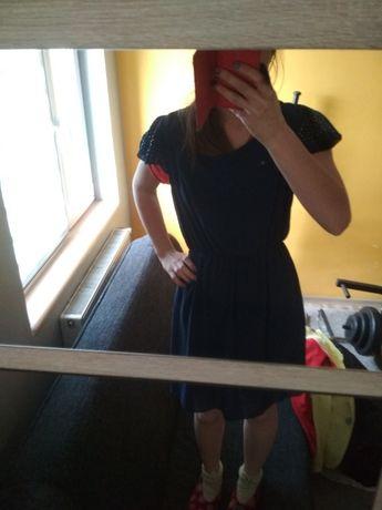 Szyfonowa Sukienka Niebieska L