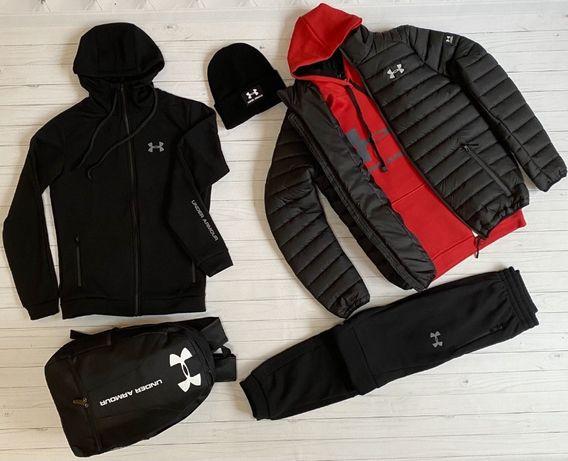 Спортивный костюм зимний мужской Under Armour   теплый Кофта + Штаны