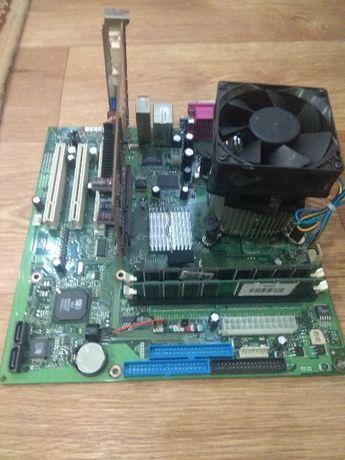 Комплект Fujitsu Siemens+ЦП Intel2.8Ghz+пам'ять DDR 2Gb+відеокартаASU