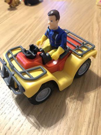 Strazak Sam i quad - uszkodzona kierownica
