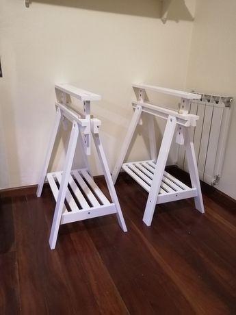 Cavaletes ikea brancos