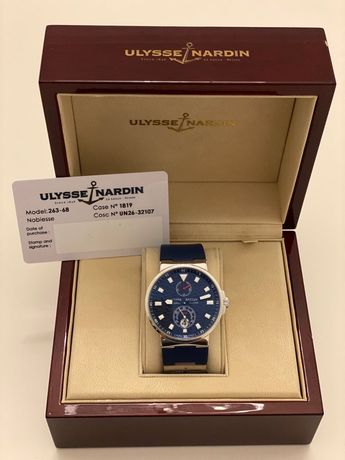 Ulysse Nardin Maxi Marine Chronometre Blue Wave Limited Edition