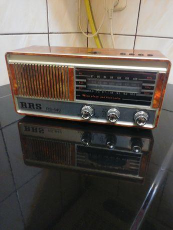 Radio wielozakresowe retro z USB odtwarzania mp3 Wbudowany akumulator