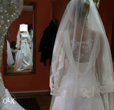 Suknia ślubna gładka ivory
