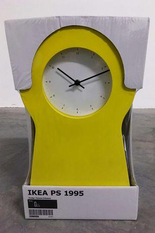 Relógio IKEA PS 1995, amarelo, novo