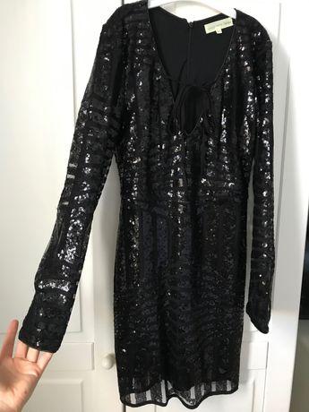 Sukienka mała czarna cekiny XS