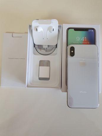 Продам iPhone X 256 silver neverlock идеал.