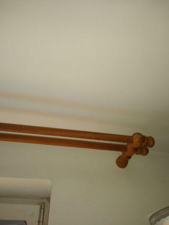 Karnisz drewniany podwójny 180 cm z