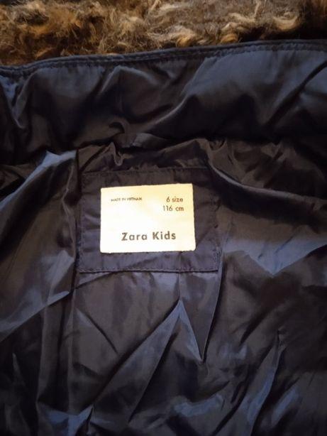 Kurtka zimowa ZARA dla dziewczynki rozmiar 116