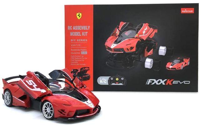 Model Ferrari FXXK EVO 92 el. DIY DO ZŁOŻENIA 1:18 Zdalne SterowanieRC