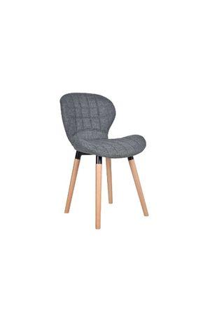 Krzesło MALMO grafitowe tapicerowane pikowane salon