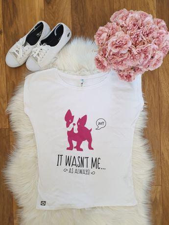 T-shirt podkoszulek koszulka buldożek buldog francuski french bulldog