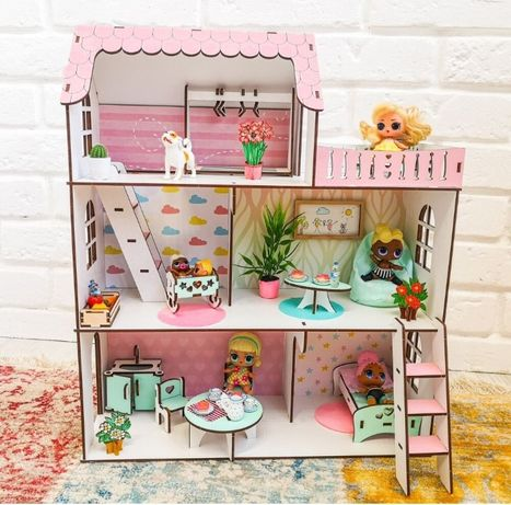 Дом для Лол Дача NestWood кукольный домик для кукол LOL, конструктор