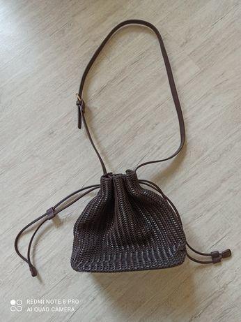 brązowa torebka worek Reserved