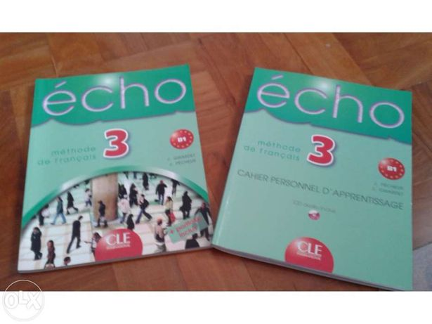 Livro de francês echo 3 (b1) livro de aluno + caderno de exercíos + cd