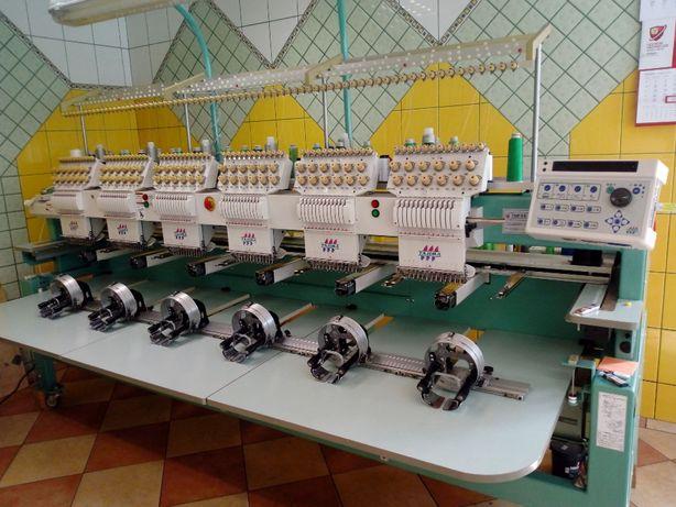 Hafciarka Tajima 6 głowic, 12 kolorów, wyroby gotowe i czapki