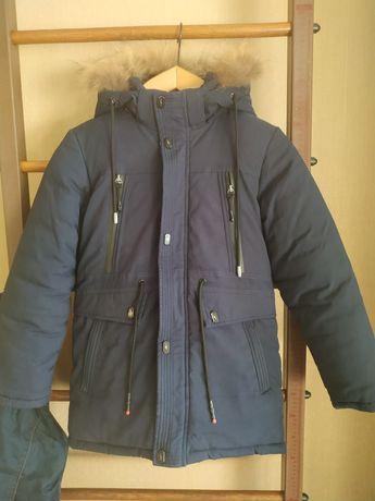 Зимняя куртка- парка на мальчика р. 146
