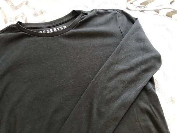 Czarny longsleeve Reserved, bluzka z długim rękawem