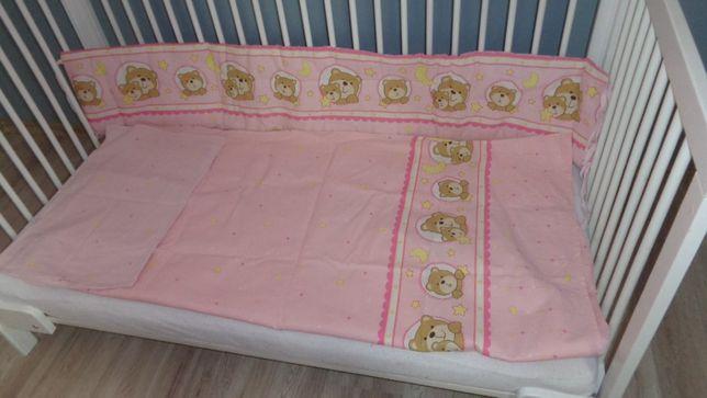 amy różowa pościel komplet do łóżeczka