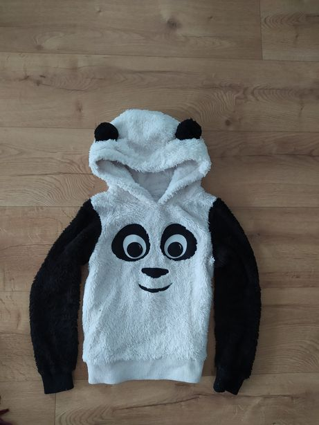 Atmosphere bluza panda z kapturem i uszami 38 36 M bluzka pluszowa