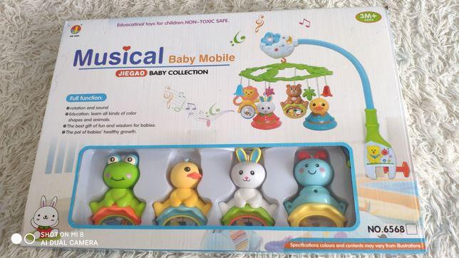 Музыкальный мобиль, музыкальная карусель, musical baby Mobile