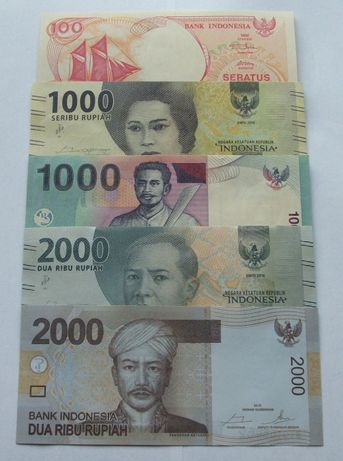 Banknoty INDONEZJA - Z PACZKI BANKOWEJ - Zestaw Kolekcjonerski