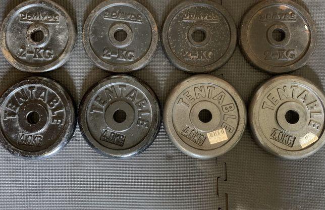 Pesos/bolachas musculaçao 4x2 KG 4x4 KG