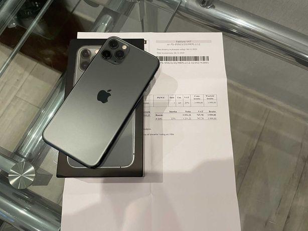iPhone 11 Pro Midnight Green, dowód zakupu, gwarancja 14 miesięcy