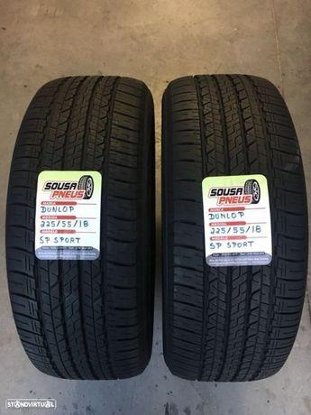 2 pneus semi novos dunlop 225/55/18 - Oferta dos portes