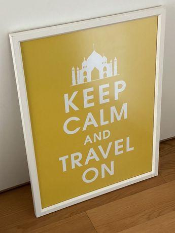 Poster keep calm emoldurado