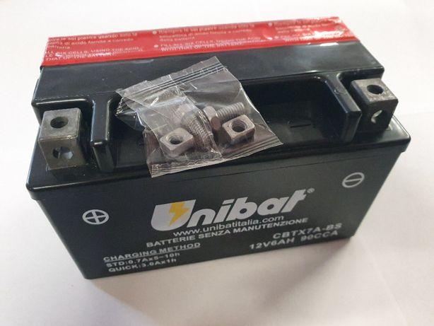 Akumulator Unibat AGM CBTX7A-BS YTX7A-BS ETX7A-BS 6Ah 90A 12V NOWY