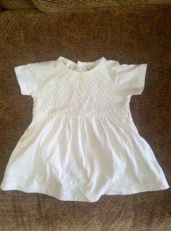 Продам детское белое боди-платье, для крестин
