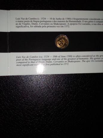 Moeda 1/4 Euro em Ouro - Luís de Camões