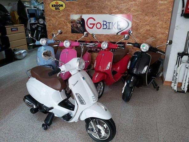 Mini moto vespa 12v -  novas