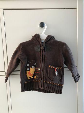 Sweterek z kapturem rozm. 74 - Smyk - Disney Baby