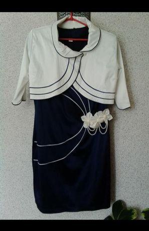 Женский костюм, костюм, плаття, платье 48-50 роз Польща