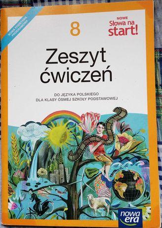 Nowe słowa na start zeszyt ćwiczeń język polski klasa 8
