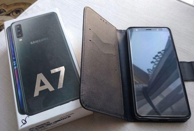 Samsung Galaxy A7 2018 Idealny + szkło +etui