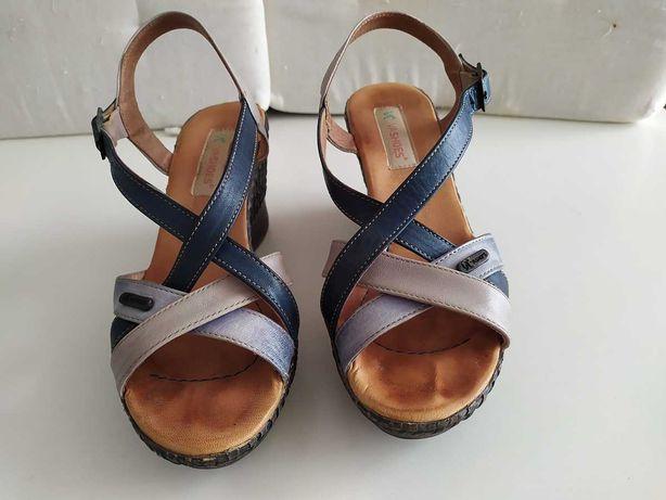 Sapatos senhora - Sandálias em pele - Nº37