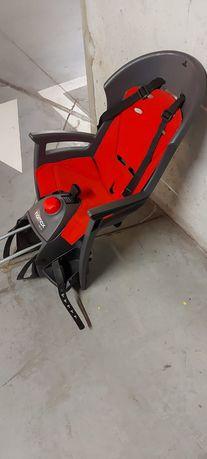Fotelik rowerowy Hamax Siesta czerwony + adapter używany